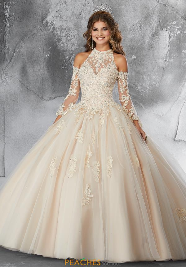 Vizcaya Quinceanera High Neckline Ball Gown 89192