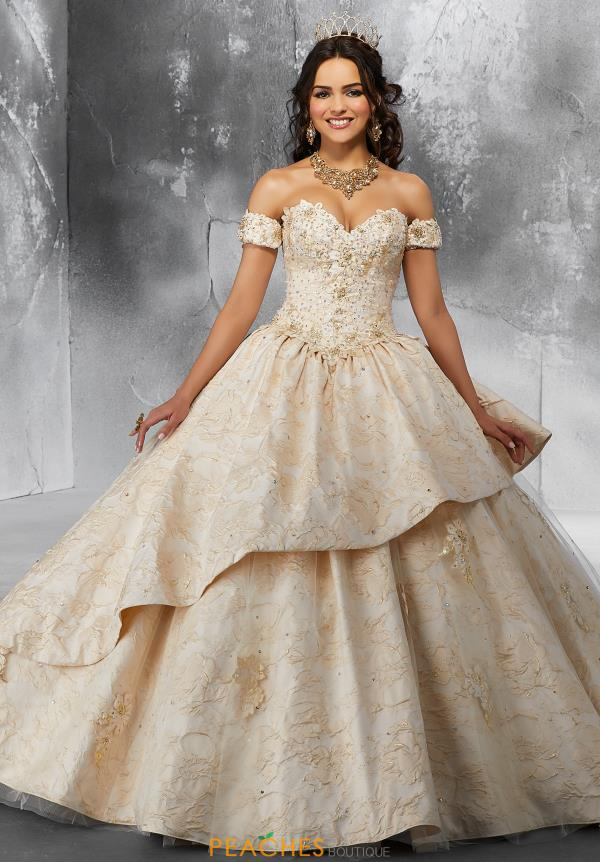 Vizcaya Quinceanera Brocade Ball Gown 89193