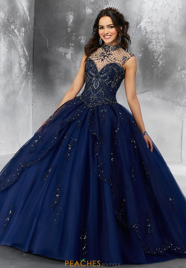 Vizcaya Quinceanera High Neckline Beaded Gown 89197
