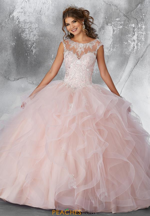 Vizcaya Quinceanera Sleeved Beaded Ball Gown 89198