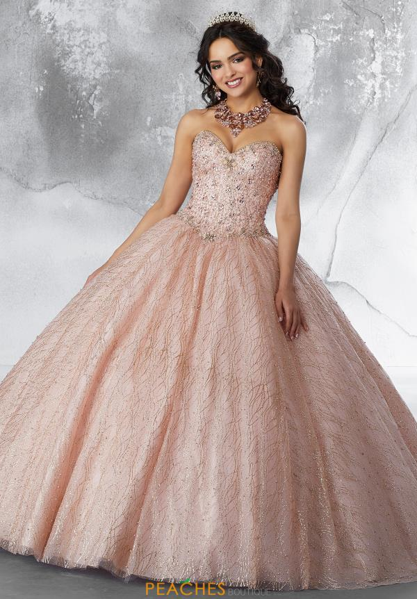 Vizcaya Quinceanera Strapless Beaded Ball Gown 89199