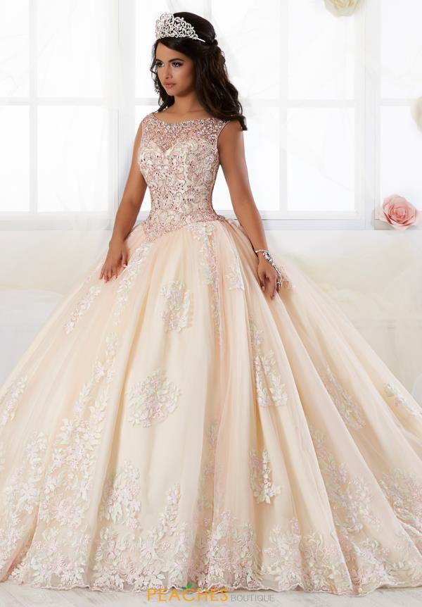 Tiffany Quinceanera High Neckline Beaded Gown 26895