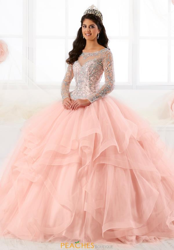 Tiffany Quinceanera Long Sleeved Ball Gown 26904