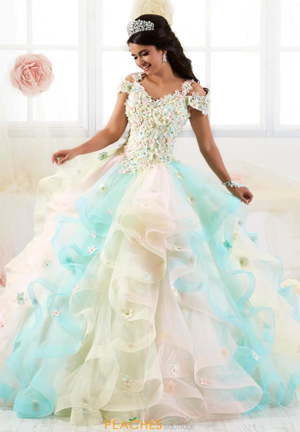 Tiffany Quinceanera Beaded Long Gown 26905