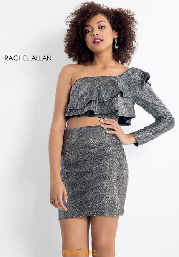 Rachel Allan One Sleeve Short Dress 4618