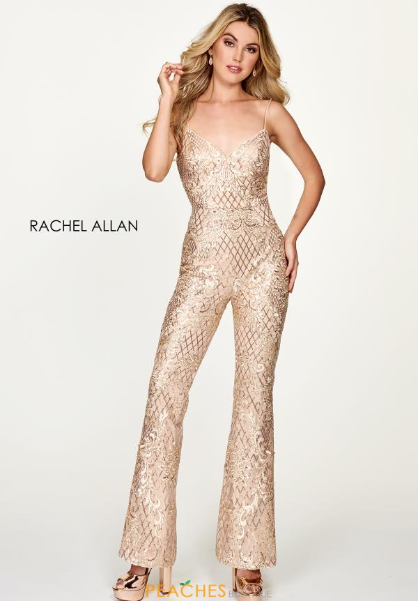 Rachel Allan Sweethear Embroidery Jumpsuit 4625
