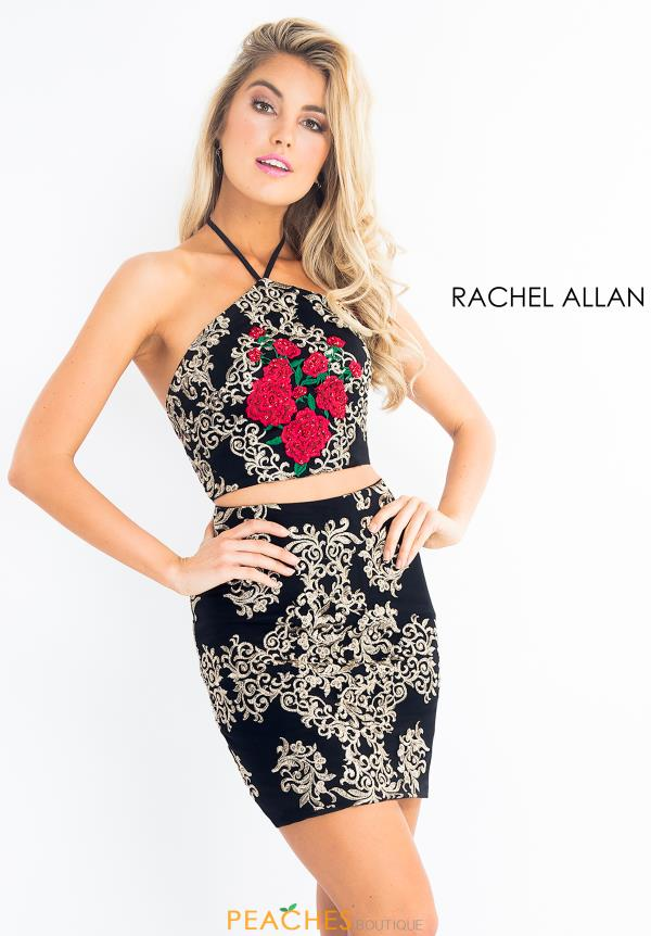 Embroidered Two Piece Rachel Allan Dress 4631