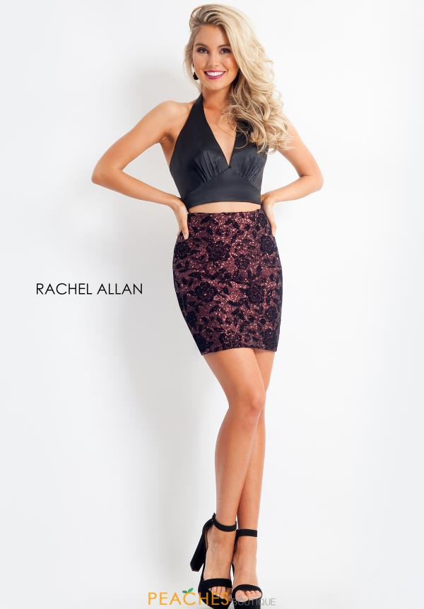 V-Neck Two Piece Rachel Allan Dress 4653