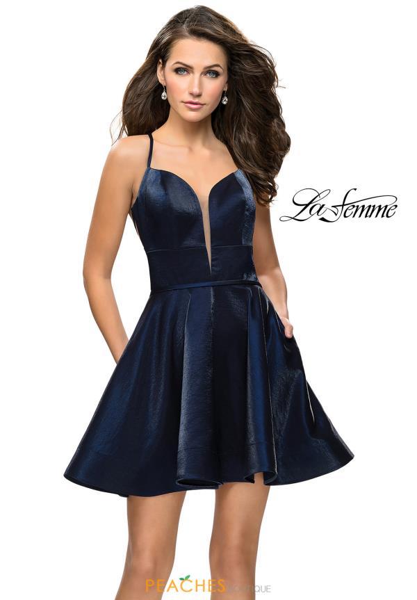 95ea90b7549 La Femme Short Dress 26659