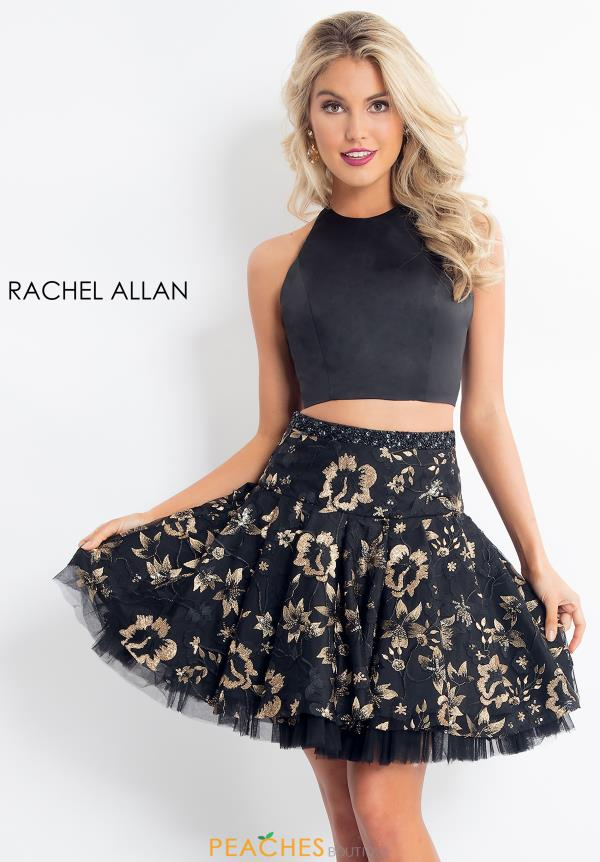 Rachel Allan Floral Two Piece Dress 4626