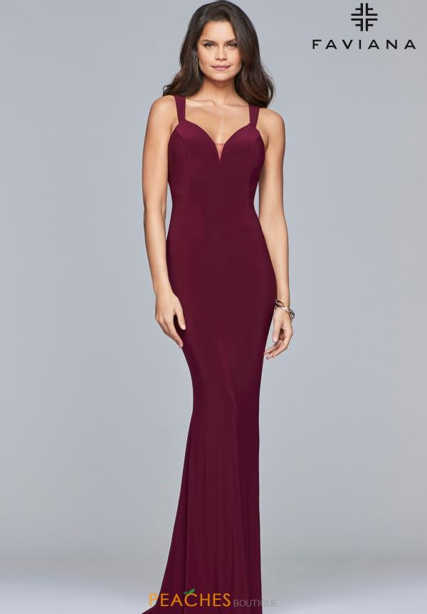 Faviana Fitted Jersey Dress S10106