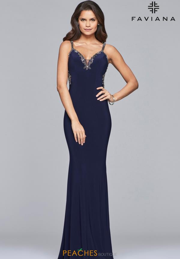Faviana Long Fitted Dress S10107
