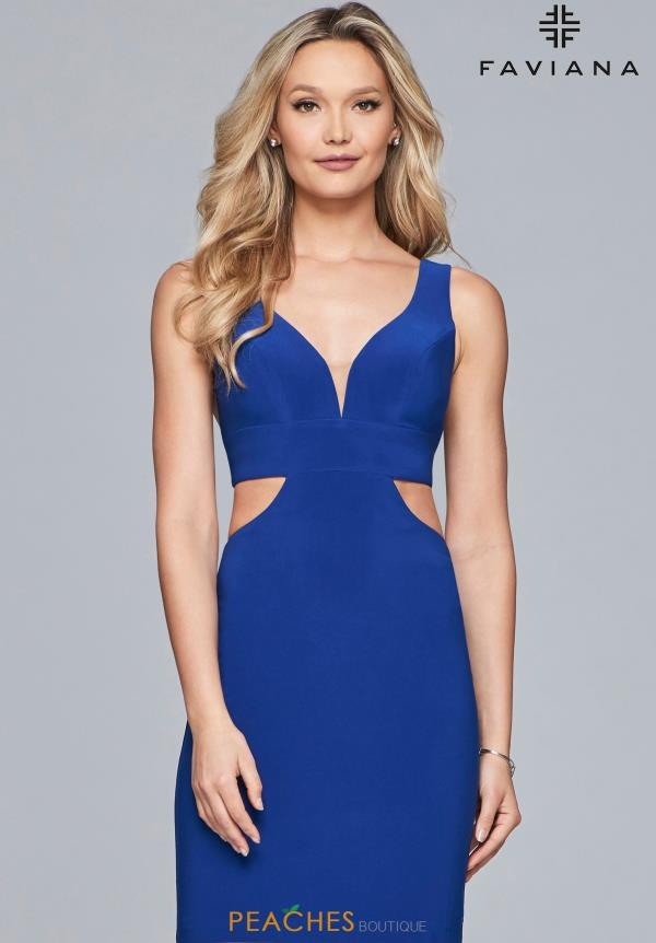 Faviana V- Necklnie Jersey Dress S10165