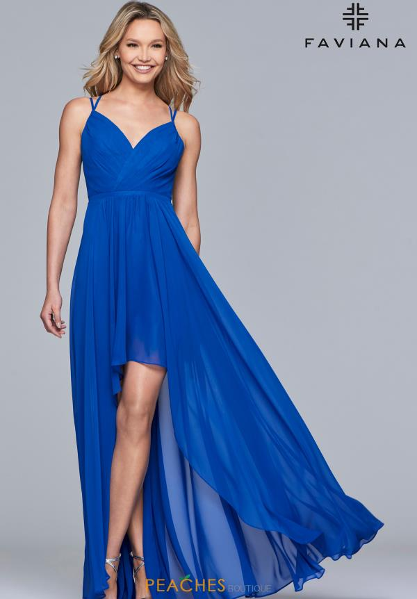 Faviana Long Chiffon Dress S10173