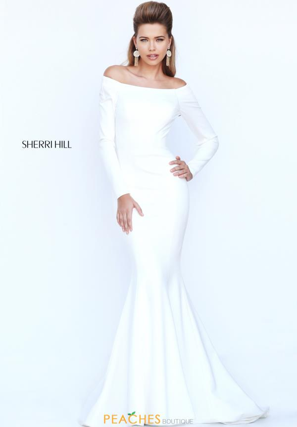Off the Shoulder Sherri Hill Gown 52511