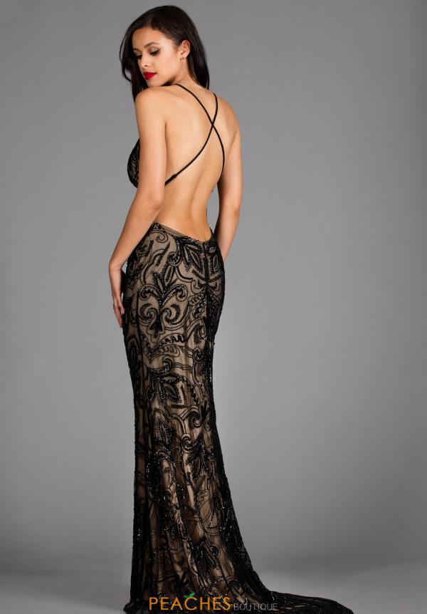 Scala Prom Dress 48557 | PeachesBoutique.com