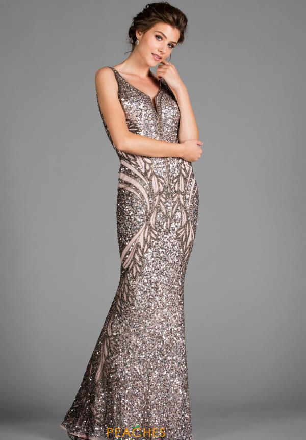 Beaded Long Scala Dress 48721