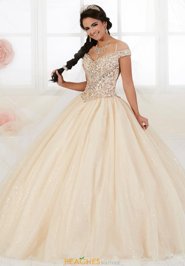 Tiffany Quince Cap Sleeved Ball Gown 56360