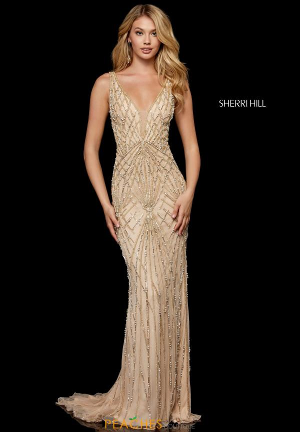 Sherri Hill Long Beaded Dress 52324