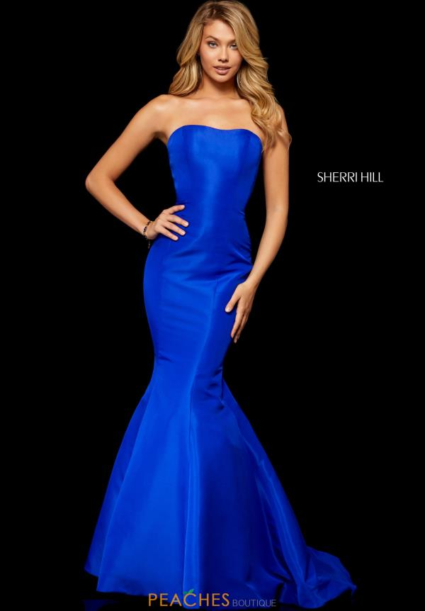 Sherri Hill Strapless Mermaid Dress 52390