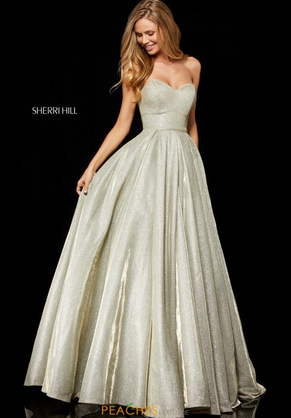 Sherri Hill Strapless A Line Dress 52391