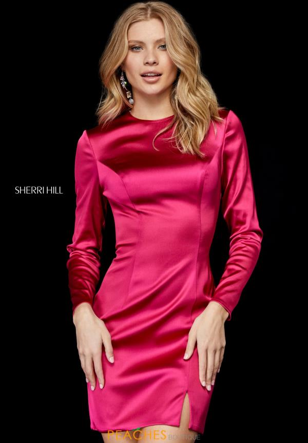 Sherri Hill Satin Long Sleeve Style 52168