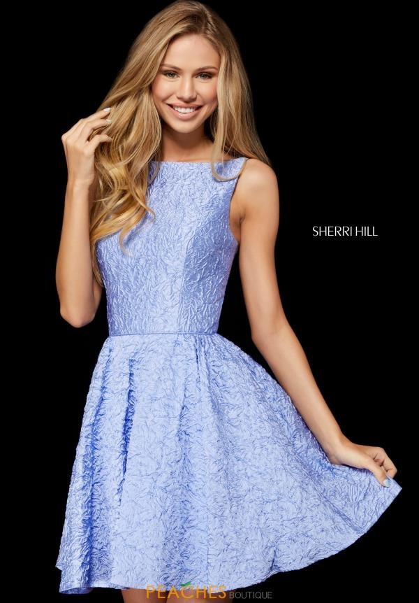 A Line Sherri Hill Short Dress 52303