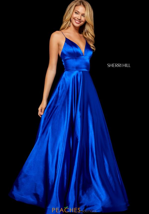 Sherri Hill V- Neckline A Line Dress 52195