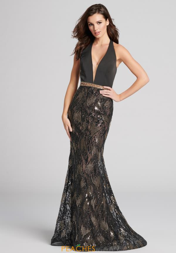 V Neck Ellie Wilde Gown EW21890