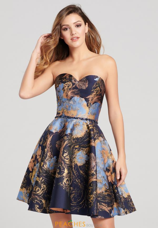 Dashing Ellie Wilde Printed Short Dress EW21864S