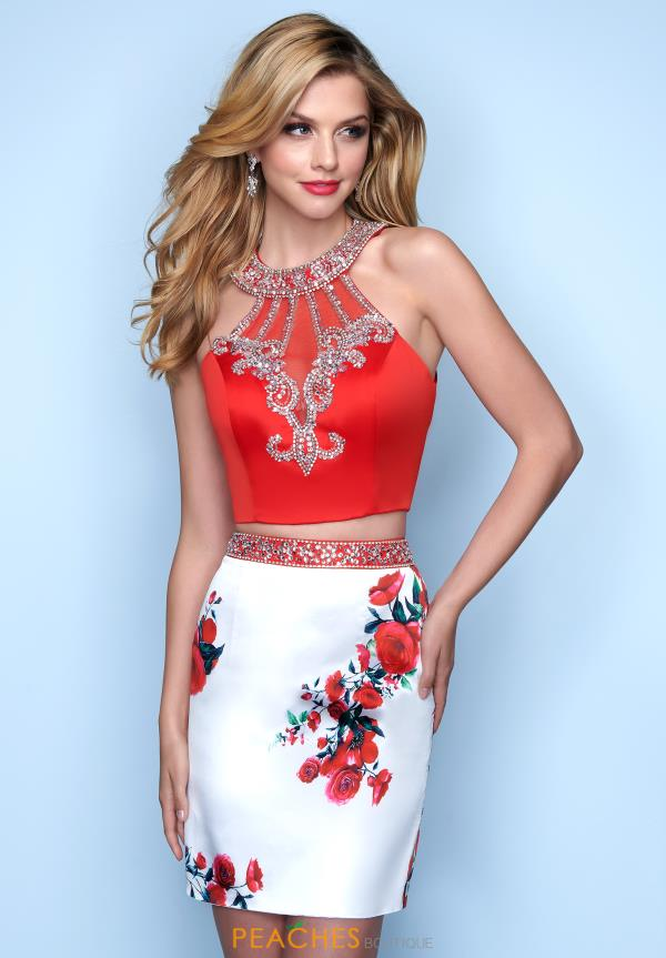 Splash Two Piece Beaded Dress E837