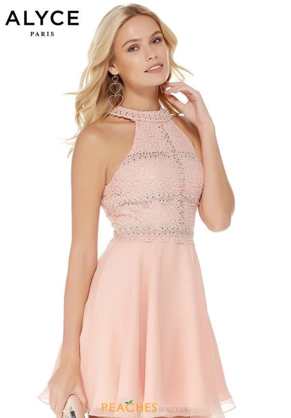 Alyce Paris Halter Top A Line Dress 2660