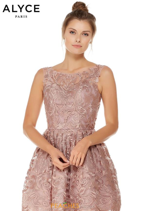 Alyce Paris A Line Lace Dress 3761