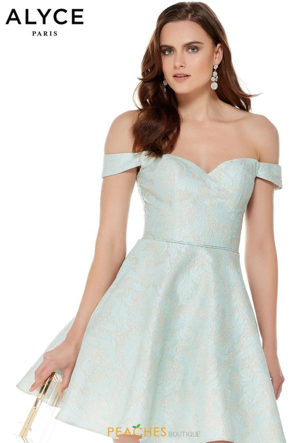 Elegant Alyce Paris Off the Shoulder Dress 3786