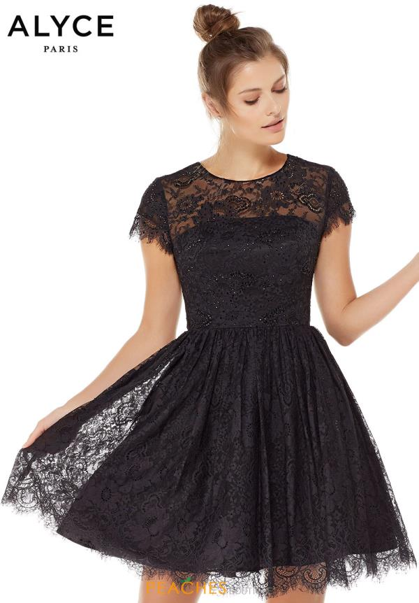 Scalloped Alyce Paris Lace Dress 3792