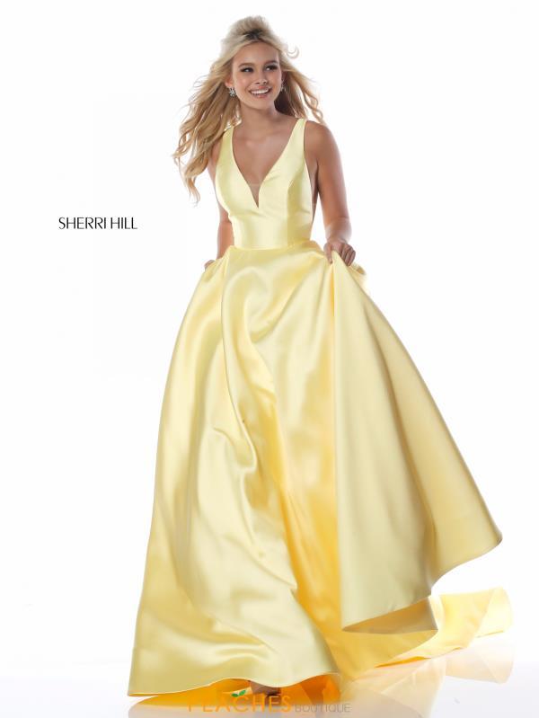 sherri hill yellow prom dress
