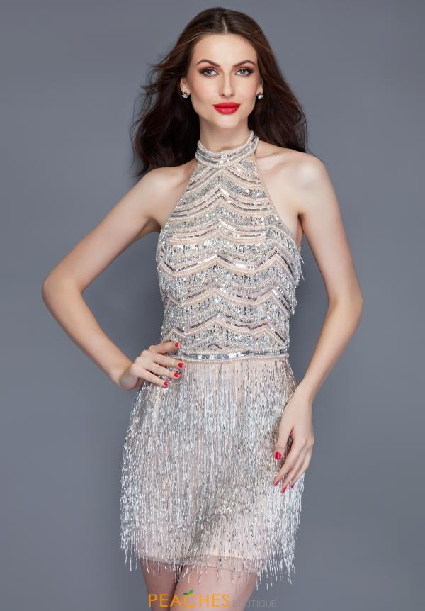 Primavera Shimmering Fringe Dress 3104