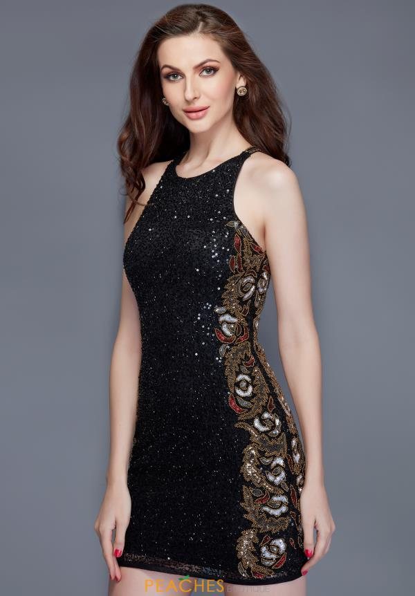 Primavera Beaded High Neck Dress 3149