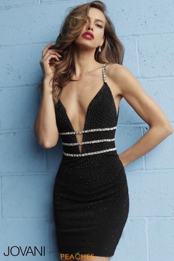 Jovani Short Fitted Dress 61882