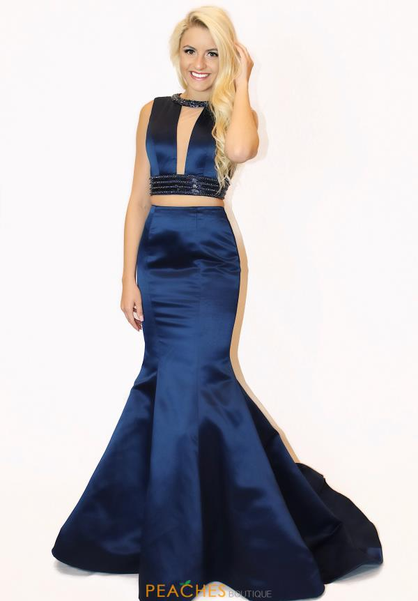 Sherri Hill V-Neck Mermaid Dress 51864