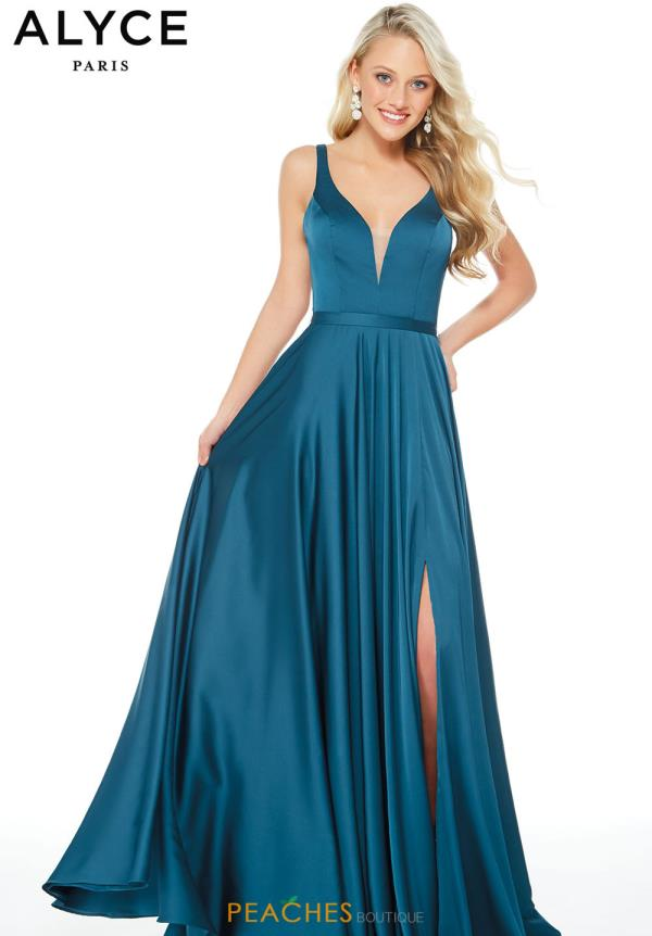 Alyce Paris Long A Line Dress 60246