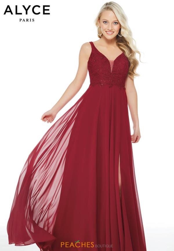 Alyce Paris Long Chiffon Dress 60254
