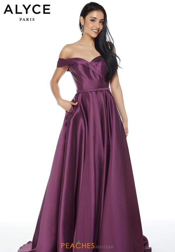 Alyce Paris Long A Line Dress 60268
