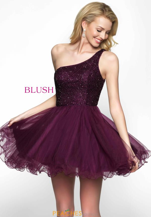 Fluffy A-line Blush Dress 11621