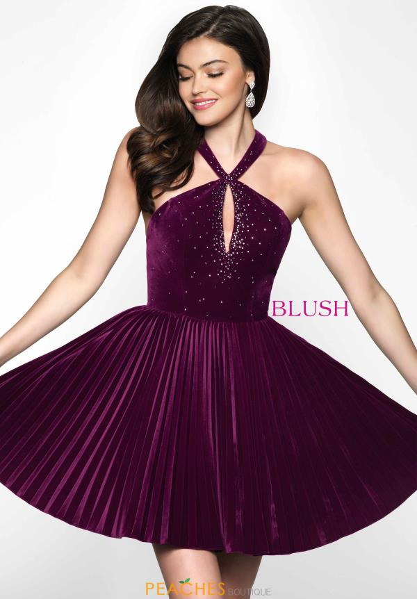 Short Beaded Blush Dress Style 11629