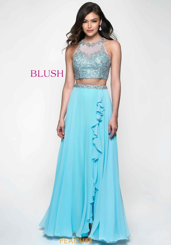 Blush Two Piece Beaded Dress 11636