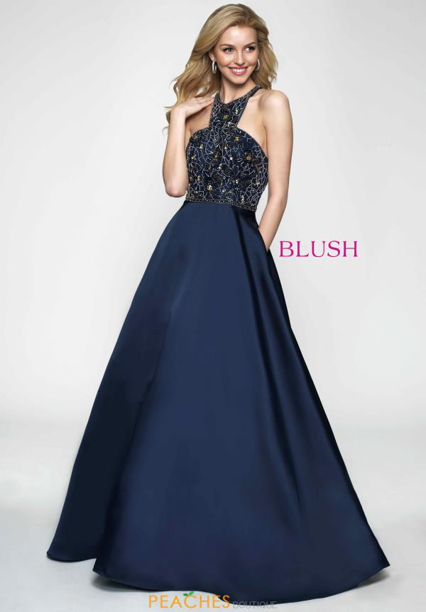Blush Beaded A-Line Dress 11645