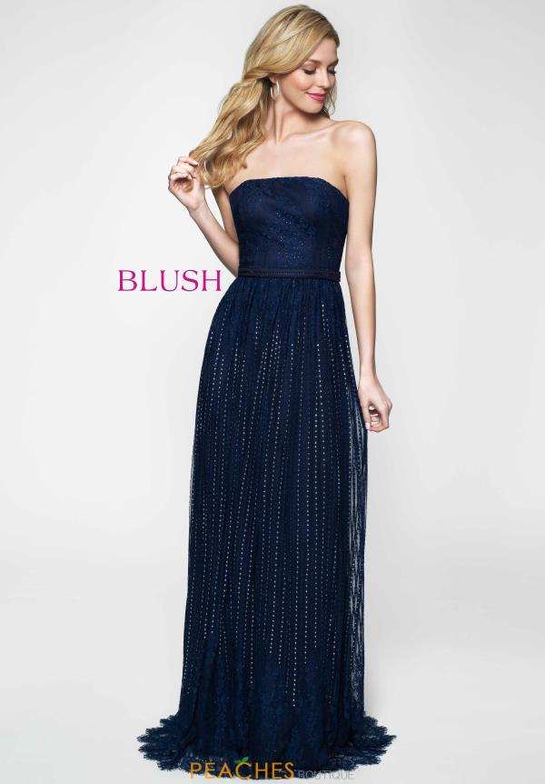Long Flowy Blush Dress 11647