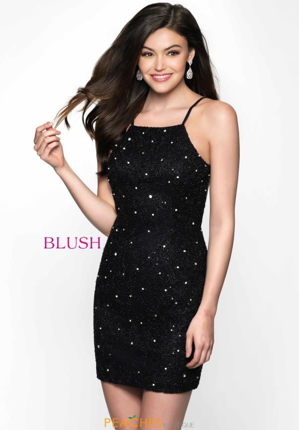 Shimmering Fitted Blush Dress B102