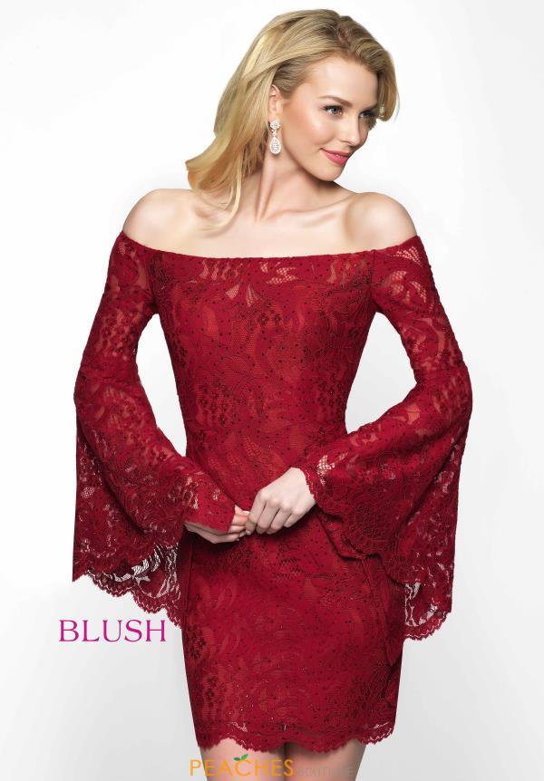 Off the Shoulder Lace Blush Dress B104